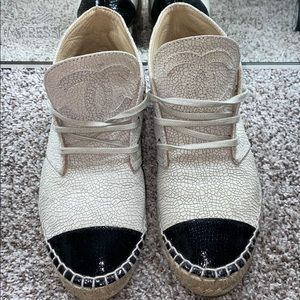 Authentic Chanel espadrille sneakers